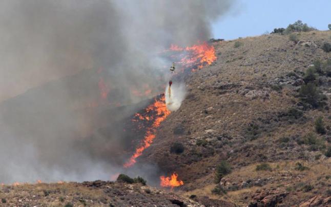 Incendios en en la zona de Portman