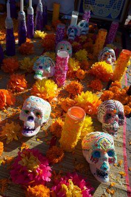 Uso de Tagetes durante la celebración del día de los muertos en México