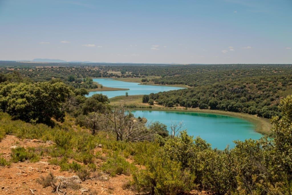 Vistas de las lagunas que pudimos disfrutar durante nuestra ruta del último día por la mañana. Otro Escondite del Guadiana.