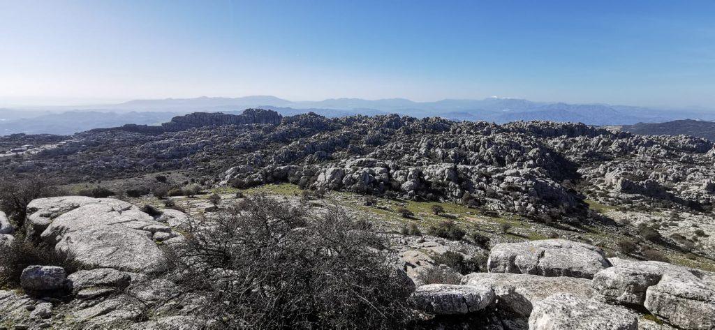 Alguna de las vistas que se gasta el Torcal de Antequera.
